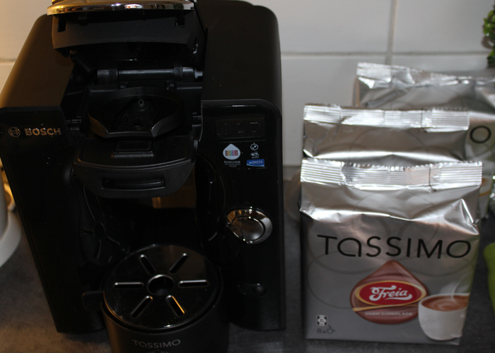 Tassimo T55, som blant annet lager kakao. Klikk p bildet for  lese mer om Tassimo.