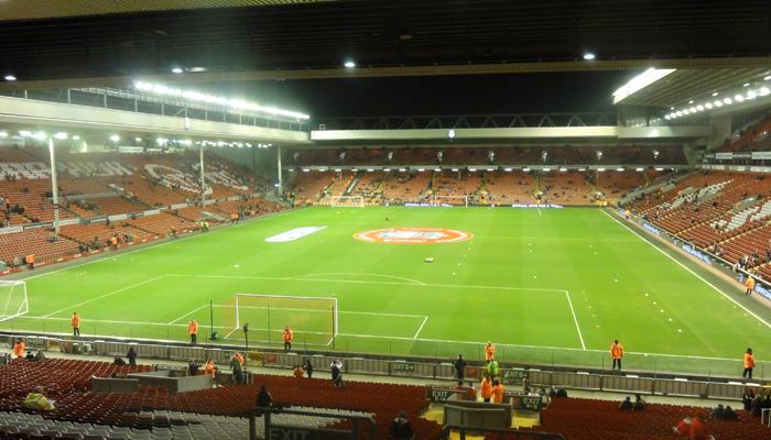 Min bror sitt kjære Anfield. Liverpool tapte 0-2.