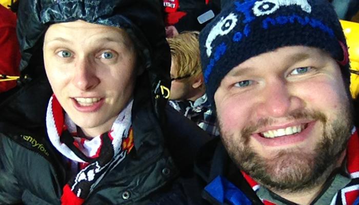 HEIA BRANN: Dette er Anders og meg.