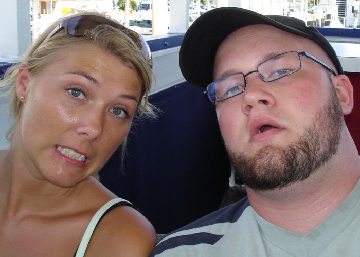 2006: Her er vi i Miami og det er ganske varmt. Vår første store tur sammen.