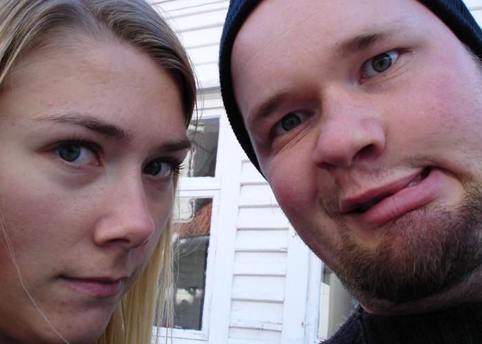 2004: Her er vi purunge og har kastet oss ut på vårt første eventyr sammen.