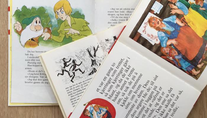 MYE RART: Gamle barnebøker er ikke særlig politisk korrekt.