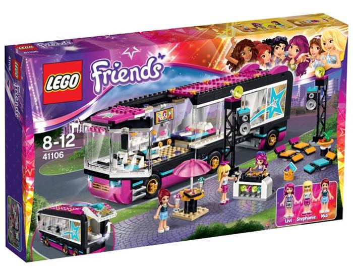 PREMIE 3: LEGO Friends popstjernenes turnébuss til 649 kroner.